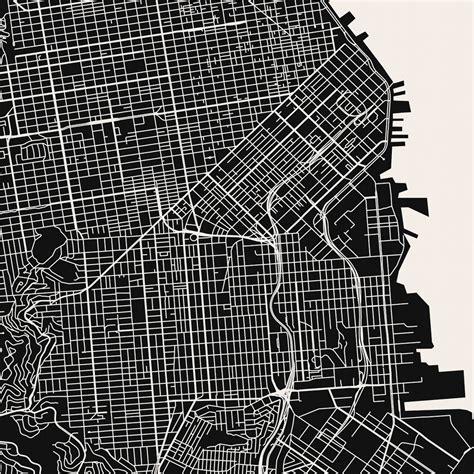 san francisco map black and white san francisco map print michigan map