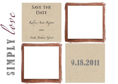 save the date templates wedding save the date cards one