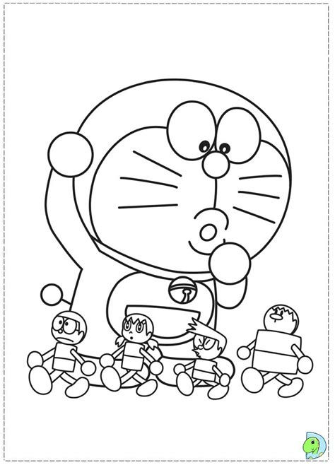 Coloring Pictures Doraemon Coloring Page Dinokids Org by Coloring Pictures