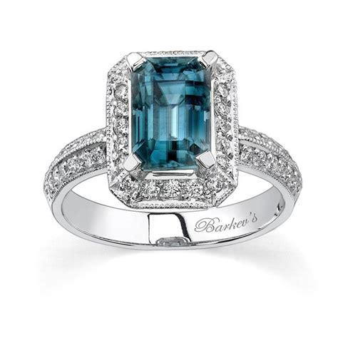 Blue Topaz Set Ring barkev s white gold blue topaz ring 6394l
