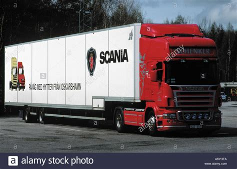 magnificent new scania truck at a rest stop south of