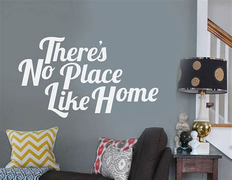 there s no place like home wall sticker contemporary