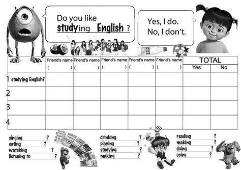 english exercises what do you like doing