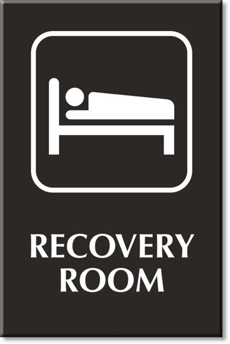 room door sign recovery room signs recovery room door signs