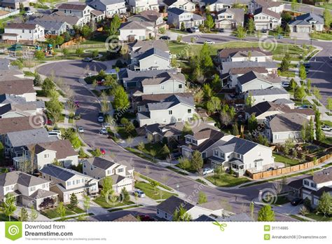 Southern Homes House Plans Suburbia Royalty Free Stock Photo Image 31114885