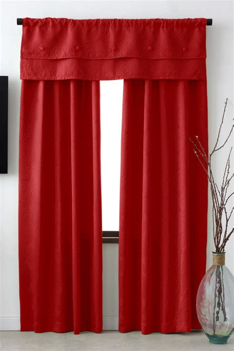 Curtain Panels Red Curtain Design