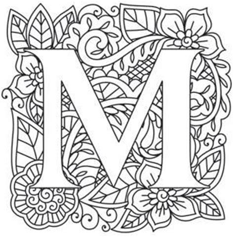mandala coloring pages letters mendhika letter m image l e t t e r s letters