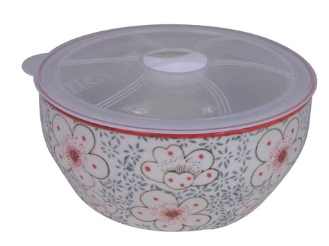 Unique Kitchen Canisters Large Charming Cherry Blossom Ceramic Lunch Bowl With