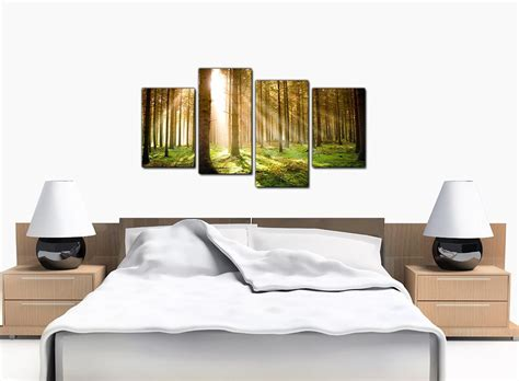 canvas of trees for your bedroom 4 part