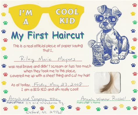 my haircut certificate template haircut certificate free my cakepins stuff