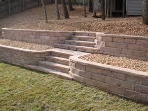 tiered retaining walls yard landscaping pinterest