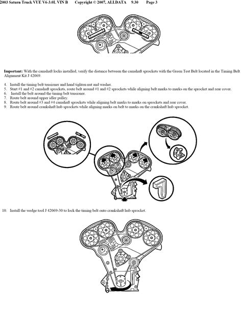 service manual how to set timing for a 2003 saturn vue timing chain kit fits 00 11 saturn