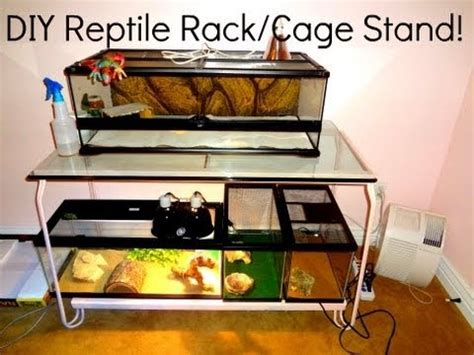 reptile l stand diy diy reptile rack cage stand youtube