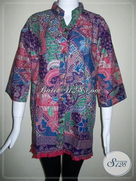 Baju Kerja Xl baju batik kerja untuk wanita aktif blus batik lengan tiga perempat bls349p xl 95 toko batik