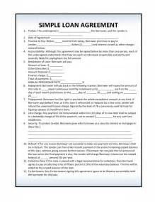 free simple loan agreement pdf template form download
