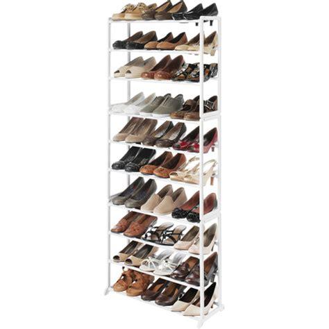 whitmor shoe tower rack walmart