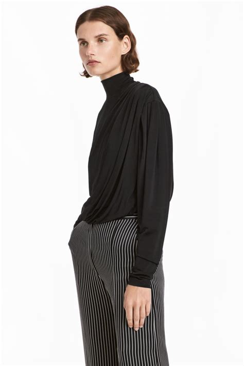 h m draped top draped top black sale h m us
