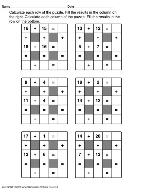 printable puzzles grade 3 free printable math games for first grade students clasa