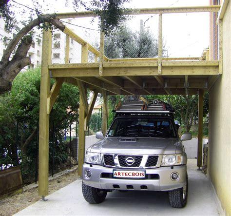 nombre de garage automobile en artecbois terrasses en bois en hauteur suspendues ou sur