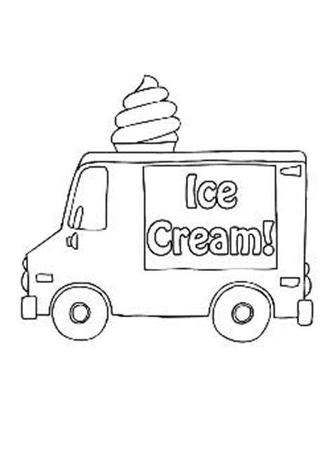 ice cream truck coloring page download