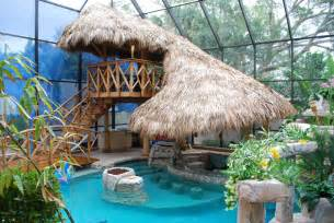 tiki hut   change your pool into a tropical paradise designrulz