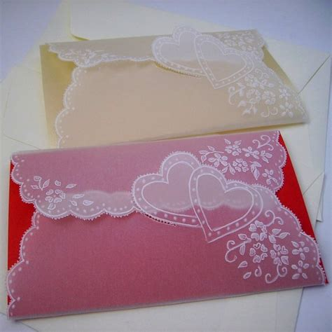 Paper Craft Greeting Cards - handmade parchment paper craft vintage style greeting