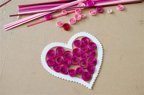 Paper Craft Ideas For Valentines Day - valentine s day craft idea for a paper quilling