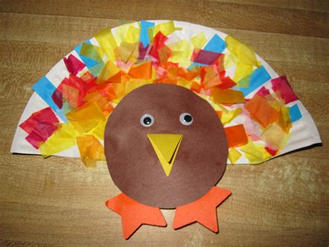 Thanksgiving Paper Plate Turkey Craft - some of this some of that paper plate turkey
