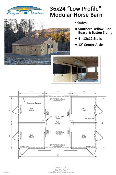 horse stable floor plans 24x36 4 stall modular horse barn delivered in 2 pre built