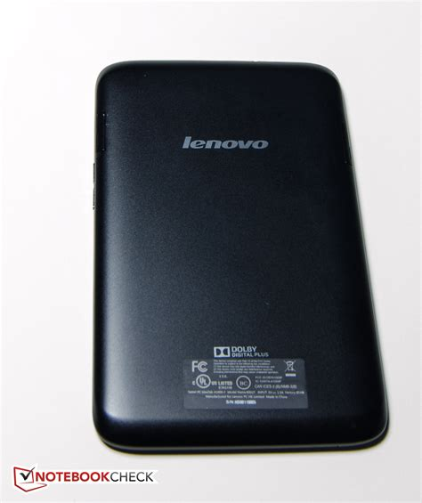 Tablet Lenovo Ideatab A1000 G Review Lenovo Ideatab A1000 Tablet Notebookcheck Net Reviews