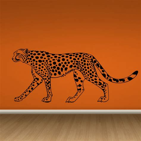 cheetah wall stickers cheetah wall decals by artollo
