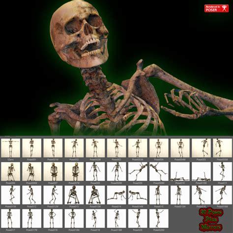 fb old fb old bones poses for v4 3d models for poser and daz studio