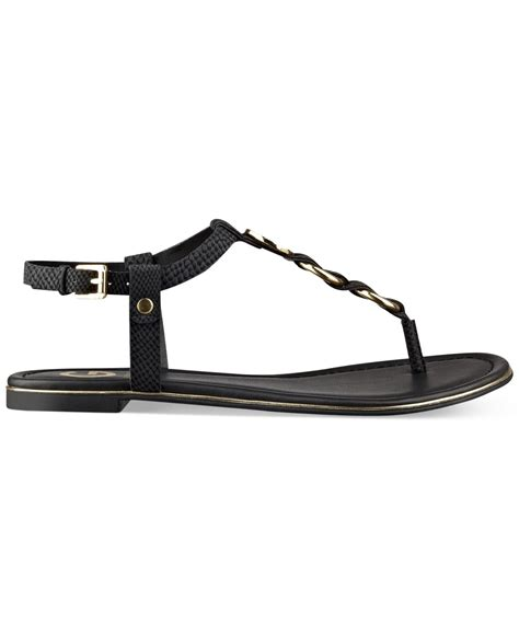 Sandal Slop Geox g by guess s dahlia braided t flat sandals in black lyst