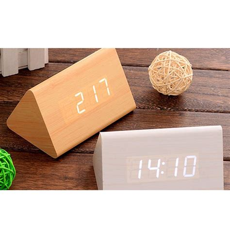 Led Digital Wood Clock Jk 828 led digital wood clock jk 828 brown jakartanotebook