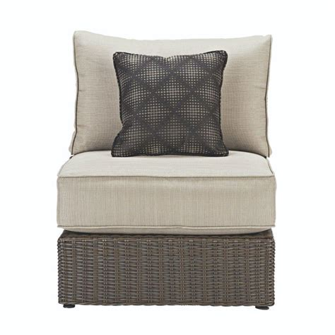 Home Decorators Patio Cushions Home Decorators Collection Naples All Weather Wicker Armless Patio Sectional Chair With