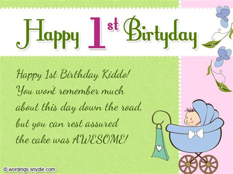 Happy Birthday Wishes For A 1 Year Card Invitation Design Ideas Amazing Images 1st Birthday