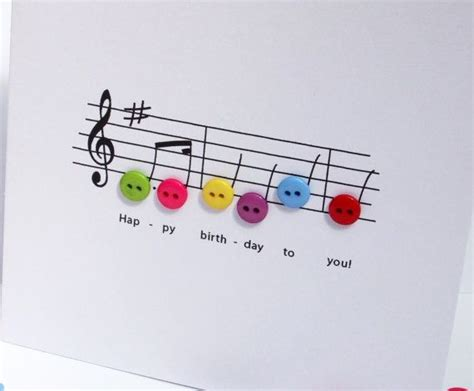 Musical Birthday Cards Happy Birthday Music Card Birthday Card With Button