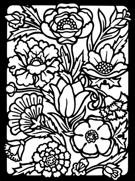 flower pattern coloring pages 11150 bestofcoloring com
