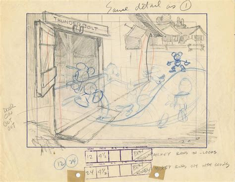 layout design animation animation layout drawing of mickey mouse at stable