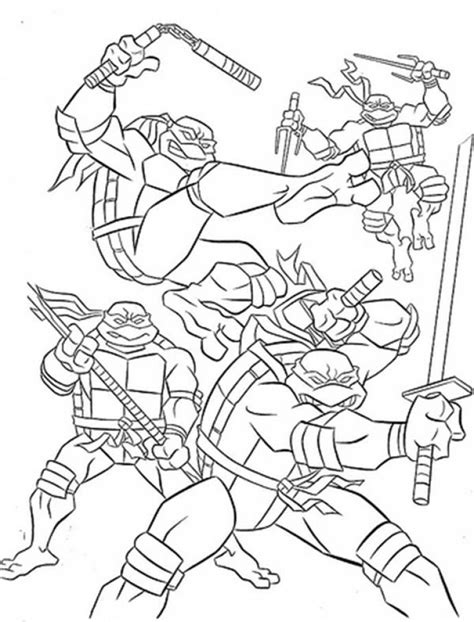 20 free printable teenage mutant ninja turtles coloring