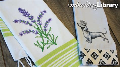 machine embroidery designs for kitchen towels embroidering on tea towels youtube