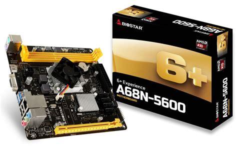 Biostar A68n 5100 Built Up Cpu Amd Apu A4 5100 Garansi biostar announces a68n 5600 soc itx motherboard eteknix