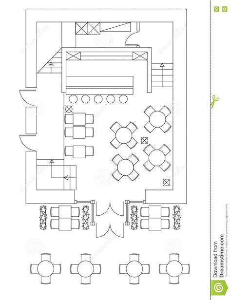 floor plan furniture symbols standard cafe furniture symbols on floor plans stock