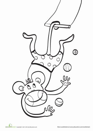 circus monkey coloring pages worksheets education com