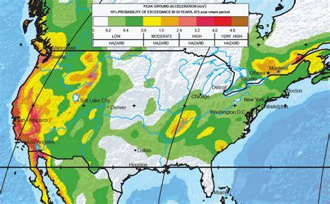 earthquake zones usa major earthquake zones on each continent