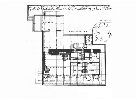 usonian floor plans frank lloyd wright george sturges house usonian house