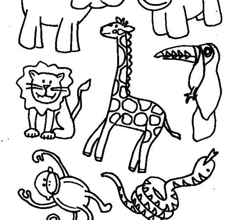 animal coloring pages preschool preschool animal coloring pages kids coloring page