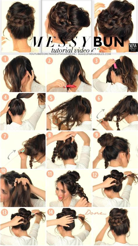 diy hairstyles messy bun diy messy bun pictures photos and images for facebook