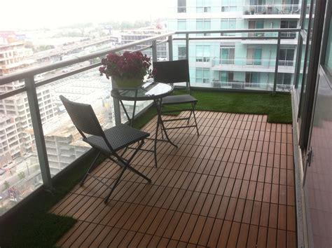 balcony patio grass balcony with tiny pavers