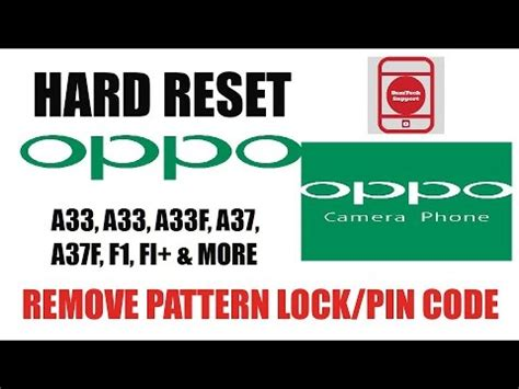 pattern lock oppo a37 oppo a37 hard reset remove pin pattern lock